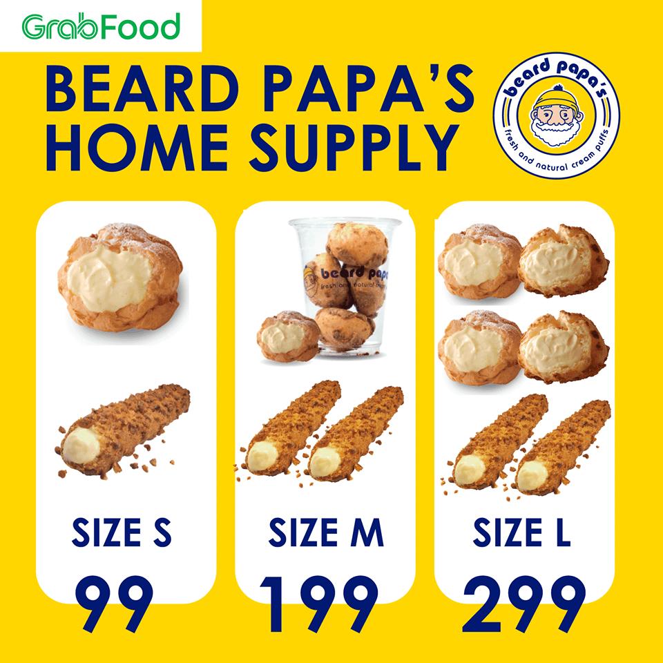 Beard Papa's สั่งผ่าน Grabfood